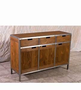 Möbel Aus Metall : sideboard im industriedesign 3 t rig 3 schubladen massiv aus holz ~ Markanthonyermac.com Haus und Dekorationen