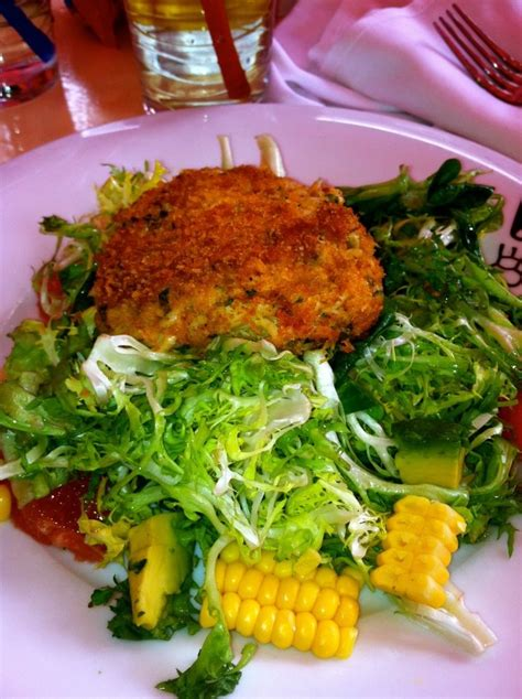 crab cake salad my crab cake salad from serendipity food drinks