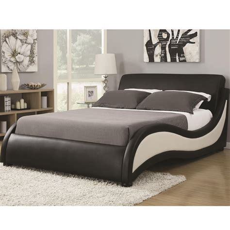 eastern king size niguel modern upholstered bed coaster