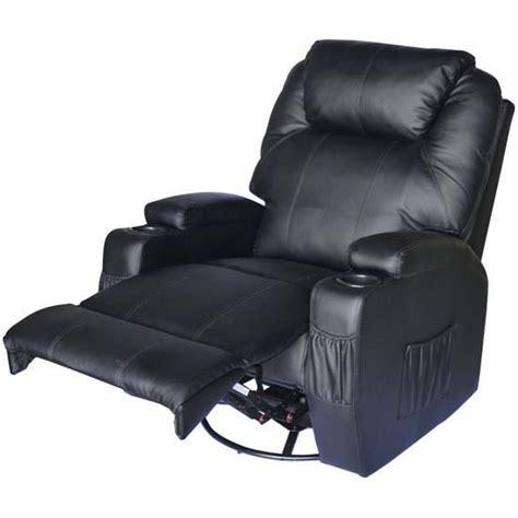 fauteuil 233 lectrique chauffant noir achat vente fauteuil imitation cuir cdiscount