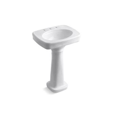 kohler bancroft vitreous china pedestal bathroom sink