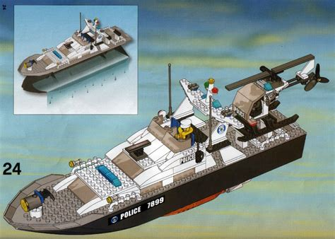 Lego City Police Boat Instructions by Lego Police Boat Instructions 7899 City