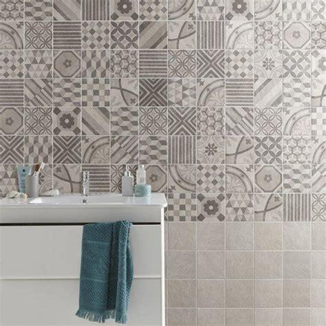 carrelage mural elliot en gr 232 s c 233 rame 233 maill 233 gris 15 x 15 cm salle de bain