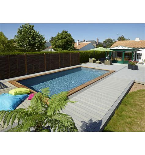 piscine hors sol maeva 800 en bois rectangulaire finition haute qualit 233