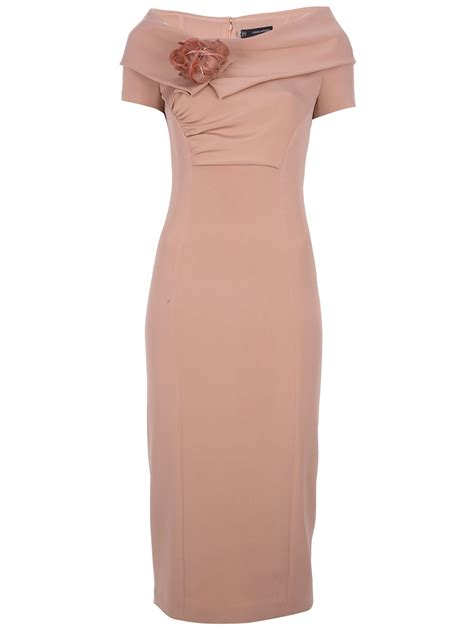 Fold Over Boat Neck Dress by Dsquared2 Boat Neck Dress In Pink Lyst