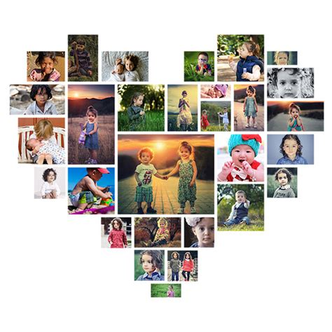 Heart Shaped Photoshop Collage Template