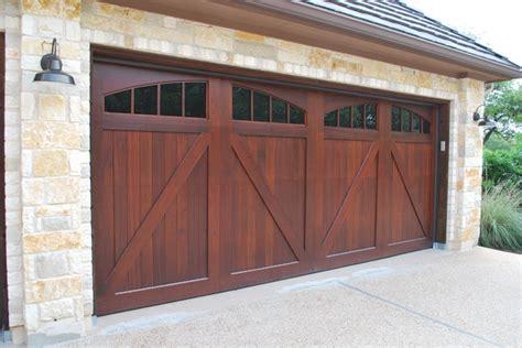 Sapele Mahogany Carriage House Garage Doors Craftsman
