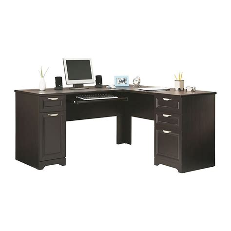 realspace 174 magellan collection l shaped desk 30 quot h x 58 3 4 quot w x 18 3 4 quot d espresso in my office