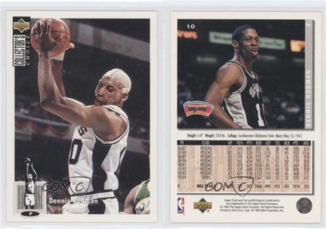 1994 95 deck collector s choice 10 dennis rodman san antonio spurs card ebay