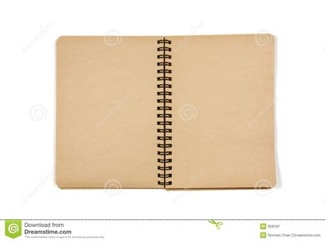 Blank Open Notebook Stock Image Image Of Blank, Brown 958187