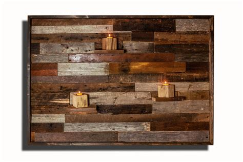 Wood Wall Art, With Floating Wood Shelves, Made Of