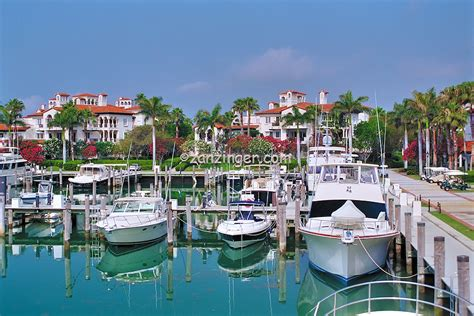 Boat In The Water In Spanish by Fisher Island Miami Florida Boats Docked Luxury