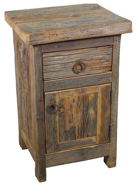 Barn Wood Nightstand   Rustic   Nightstands And Bedside Tables   by Indeed Decor