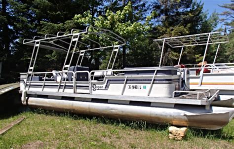 Pontoon Boat Hard Top Cover by Used Boats