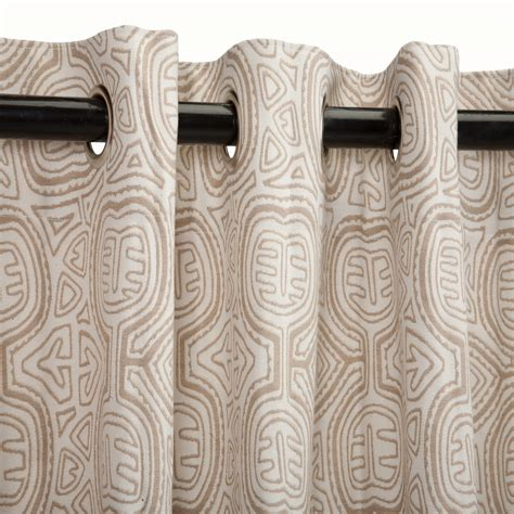 kuna sand sunbrella outdoor curtains with grommets on sale