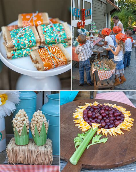 Diy Kid's Farm Party Food & Drinks