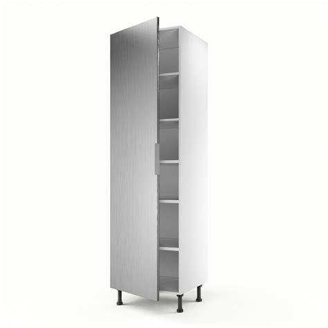 meuble de cuisine colonne d 233 cor aluminium 1 porte stil h 200 x l 60 x p 56 cm leroy merlin