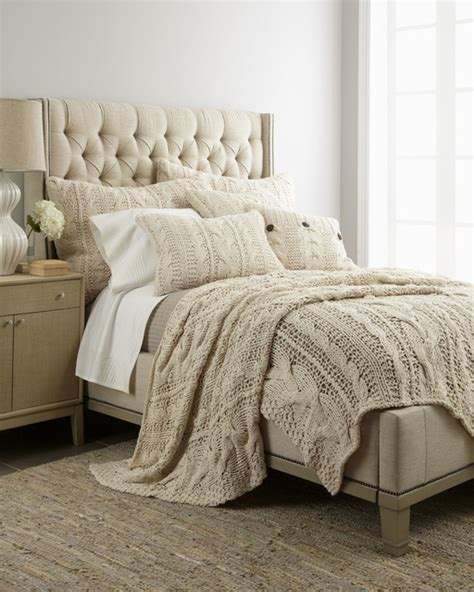 Amity Home Micah Cableknit Bed Linens Traditional