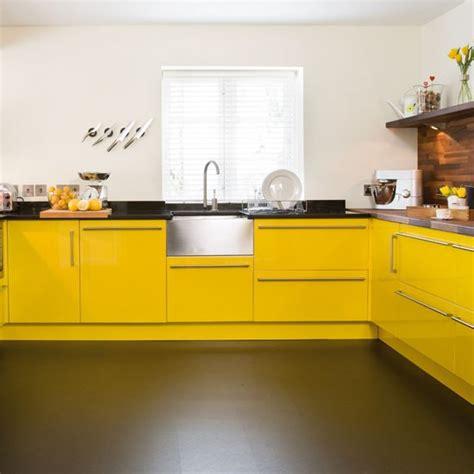 Sink  Take A Tour Around A Bright Yellow Kitchen