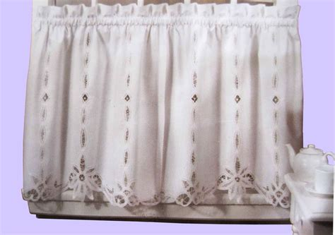battenburg lace cotton kitchen curtain white caf 233 tiers valances new ebay