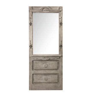 miroir d entr 233 e porte manteau en pin gris 61 5x13x160cm bastide ps