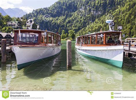 Boten Duitsland by Boten Op Het Meer Konigssee Duitsland Stock Afbeelding