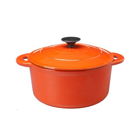 country cookware cast iron casserole dish and lid