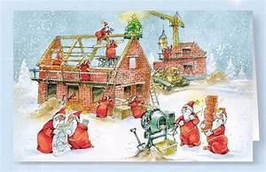 Bilder Hausbau Comic : weihnachtskarte branchenkarte bau hausbau hochbau bauunternehmen weihnachten ~ Markanthonyermac.com Haus und Dekorationen