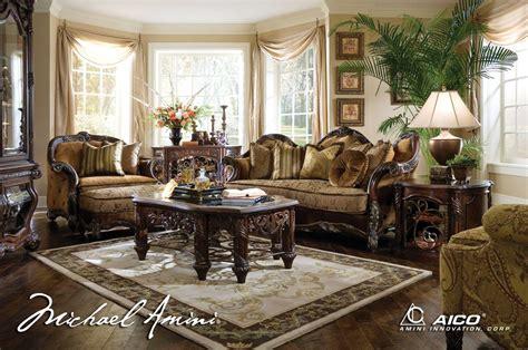 Michael Amini Essex Manor Luxury Upholstered Living Room