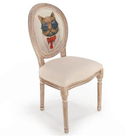 lot de 2 chaises m 233 daillon royale chat beige achat vente chaise salle a manger pas cher