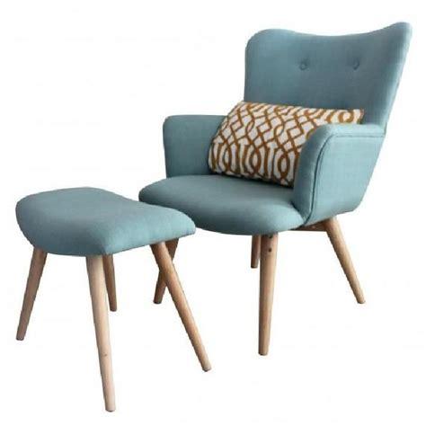 fauteuil avec repose pieds stockholm achat vente fauteuil bleu cdiscount