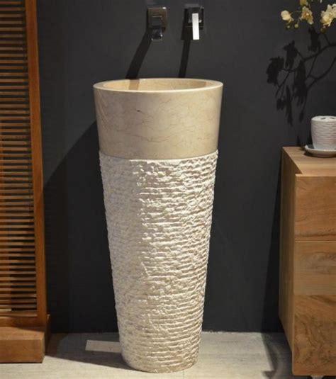 vasque colonne en marbre vasque piedestal en marbre beige