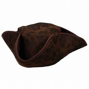 Caribbean Pirate Hat Mens Ladies Brown Pirates Hat Fancy ...