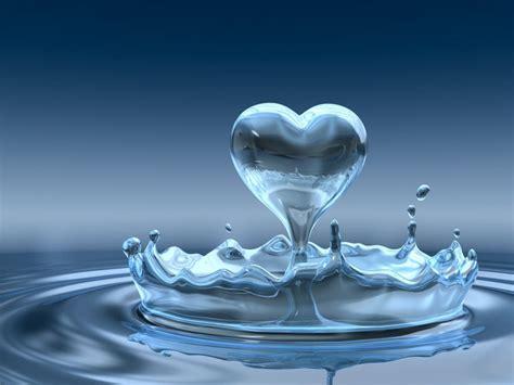 Heart From Water Splash Wallpaper