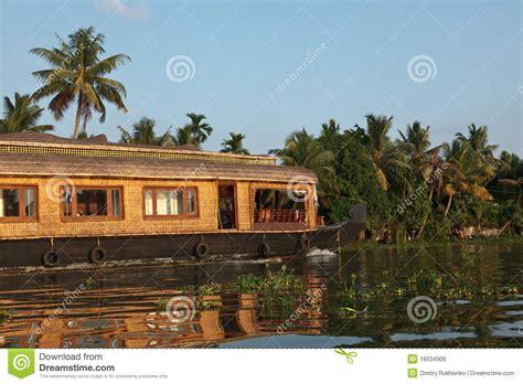Kerala Boat House Vector by House Boat On Kerala Backwaters Royalty Free Stock Image