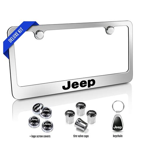 Stingray Boats License Plate by Jeep Chrome Metal License Plate Frames 4 Items Deluxe Kit