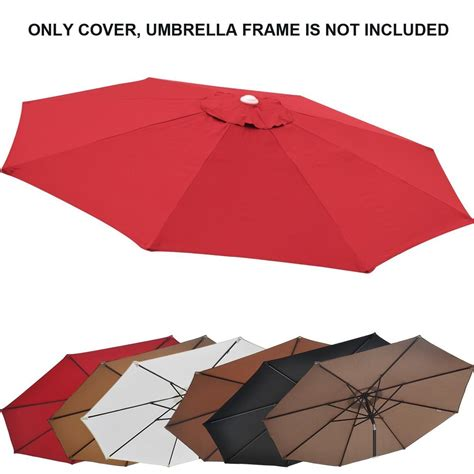 Patio Umbrella Canopy Replacement 6 Ribs 8ft by 13ft Patio Umbrella Cover Canopy 8 Rib Replacement Top