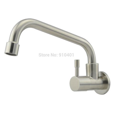 wholesale and retail promotion wall mounted kitchen faucet single handle for cold water facuet