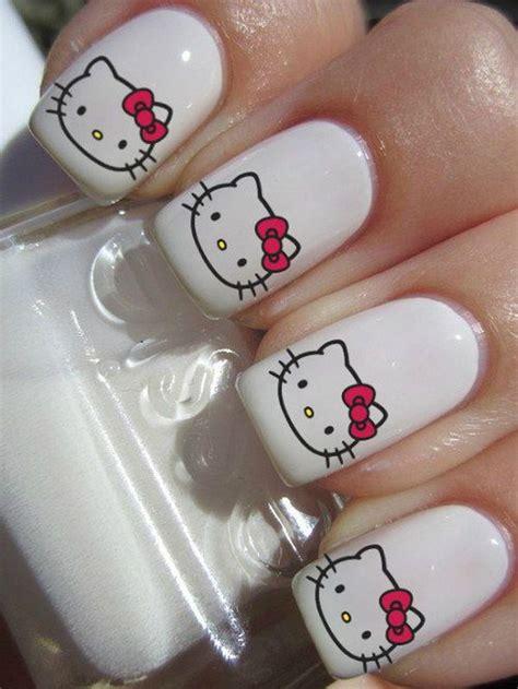 Cute Hello Kitty Nail Art Designs