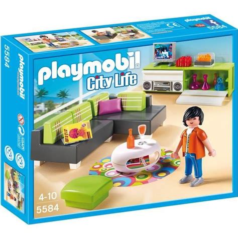 playmobil 5584 salon moderne achat vente univers miniature cdiscount