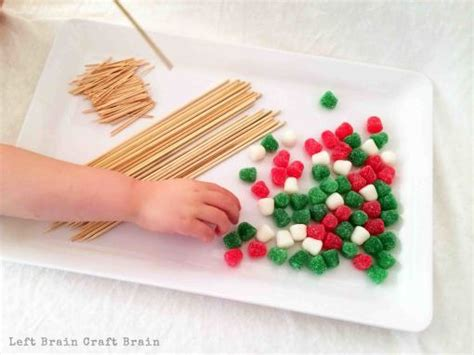Gumdrop Christmas Tree Stem by Invitation To Build Gumdrop Christmas Trees Left Brain