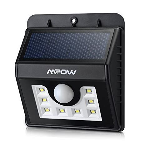 nouvelle version mpow le solaire led etanche faro lumiere 8 led luminaire exterieur sans