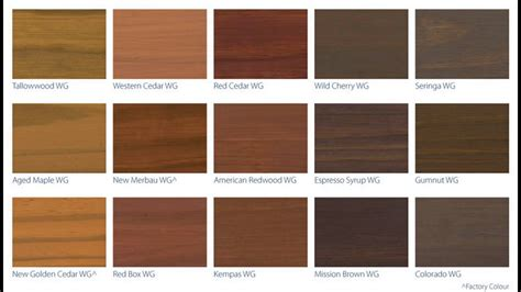 Timber Staining Colour Chart  Nisartmackacom