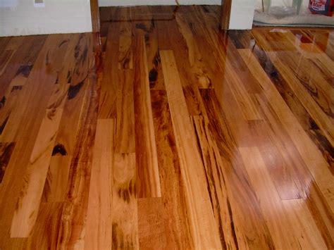 koa tigerwood hardwood installation