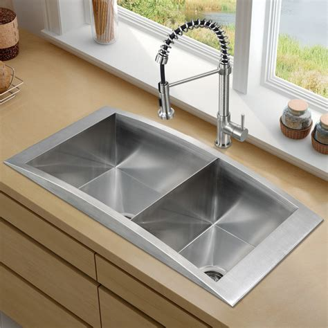 vigo platinum series topmount kitchen sink combo traditional kitchen sinks new york by vigo