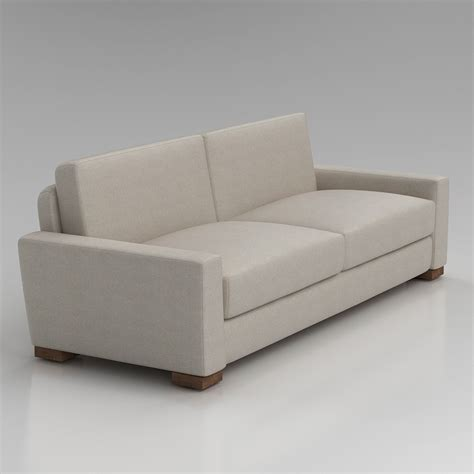 3d restoration hardware maxwell sofa high quality 3d models