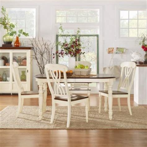 tribecca home mackenzie country antique dining set with