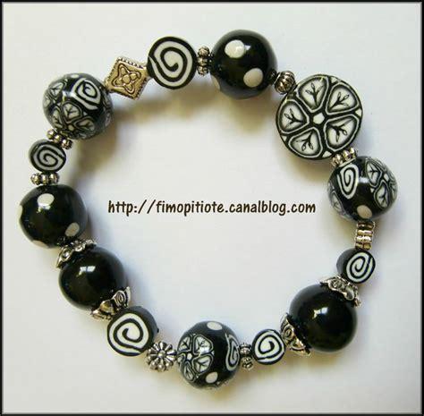 bijoux noirs et blancs en p 226 te fimo pitiote et la pate fimo
