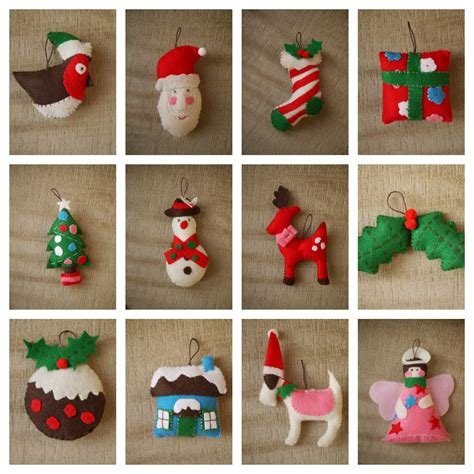 tree decorations to make with felt decorating