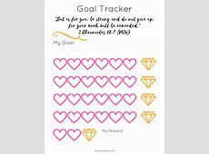 Goal Tracking + Free Printable Anna Angela